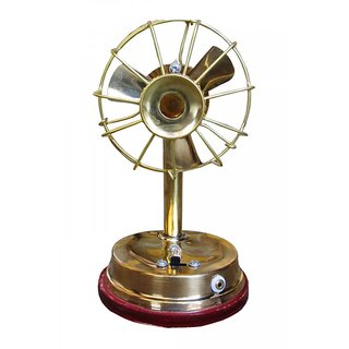 Artandcraftvilla Beautiful Antique Palm Fan for God Home Decore Gift Item Showpiece - 14.8 cm