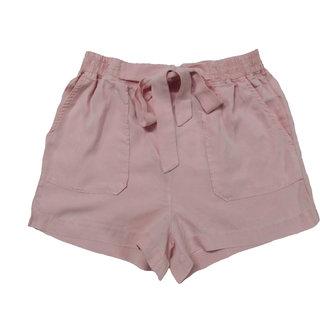 ladies denim tencil overdyed  pink  shorts