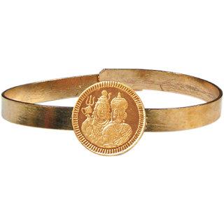Shiv Parvathi Shiva Parvati Shiva Shakti Adjustable Copper Bangle Bracelet Maha Pasupatha Kankanam - A3069-03