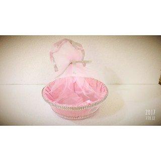 Jewellery Potli Pink Colour 5 Piece Combo