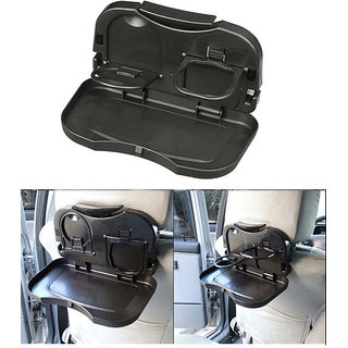Multipurpose Car Back Seat Dining Tray - Black