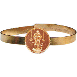 Bhairava Kalabairav Adjustable Copper Bangle Bracelet Kalabhairava Kankanam - A3028-03