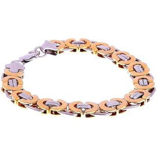 Rhodium Plated Geometric Mens Boys Bracelet