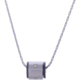 Black Enamel American Diamond  Pendant Chain