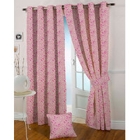 Presto Pink Colour Jacquard Eyelet Window Curtains(5Ft)-ICGJ24F5