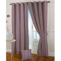 Presto Purple Colour Jacquard Eyelet Long Door Curtains(9Ft)-ICSA46F9