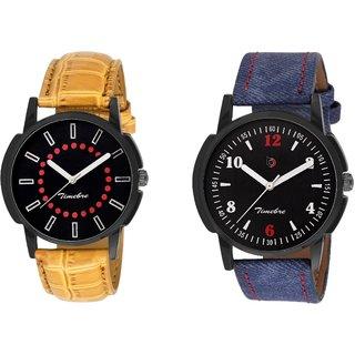 Timebre Men Khakhi Blue Casual Analog Watch-339