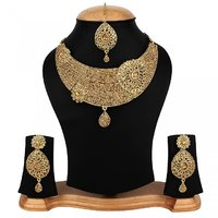 Penny Jewels Alloy Non-Precious Exclusive Stylish Necklace With Earrings Set  Maangtika For Women  Girls