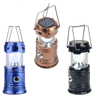 Buy 1 get 1 free 4 In 1 Usb Emergency Charging+Solar+Ac Portable Solar Led Lantern Camping Light M