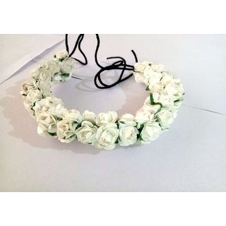 Osking Hair Gajra Hair Veni Flowers South Indian Gajras Hair Styling Accessories - White Flowers Style