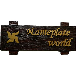 Designer Name Plate For Home Brown Forest Wooden Nameplate By Nameplateworld