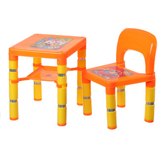 NHR Portable learning kids table chair (Orange)