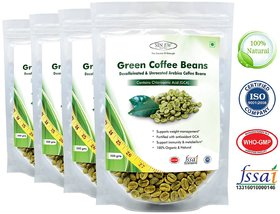 Sinew Nutrition Green Coffee Beans Decaffeinated  Unroasted Arabica Coffee  200gm (Pack of 4) for weight management