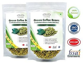 Sinew Nutrition Green Coffee Beans Decaffeinated  Unroasted Arabica Coffee  200gm (Pack of 2) for weight management