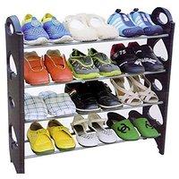 Edwin Clark 12 Pair Stackable Shoe Rack Storage 4 Layer