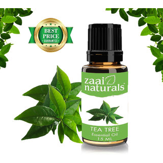 Zaai Naturals Pure Tea Tree Essential Oil for Bath, Body Aroma Diffuser - 15 ML