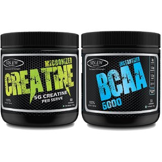 Sinew Nutrition Micronised Creatine Monohydrate - 300g and Instantized BCAA 211, 200gm