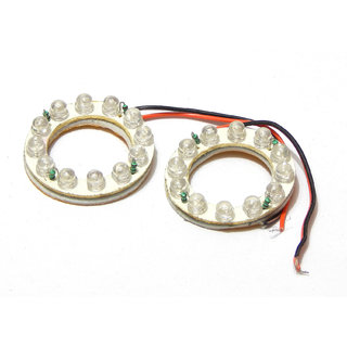 2 X BLUE Angel Eye 12 LED, Directly fits on H4 Bulb Bright Light for Cars Bikes