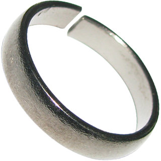 Best Quality Original Black Polished Horse Shoe Ring, Kale Ghode Ki Naal Ka Challa Ring For Shani Dosha Niwaran - A4470