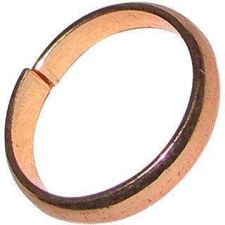 Asli Kaale Ghode Ki Naal Ki Ring / Black Horse Shoe Iron Ring (Copper Colour Polish) Adjustable Ring - A1144-05