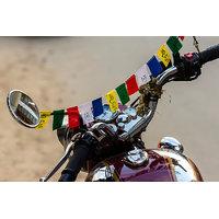 Buddhist Tibetan Prayer MANTRAS flag OM Mani Padme HUM (SUVs) for bike and car