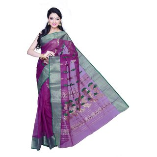 Triveni Multicolor Cotton Printed Saree With Blouse