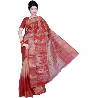 Triveni Multicolor Cotton Printed Saree With Blouse