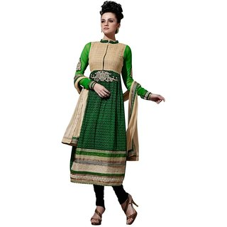 Triveni Admirable Bright Colored Printed Cotton Salwar Kameez