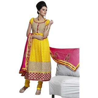 Triveni Divine Yellow Colored Cotton Salwar Kameez