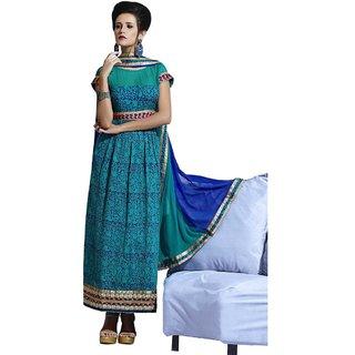 Triveni Appreciable Embroidered Cotton Salwar Kameez