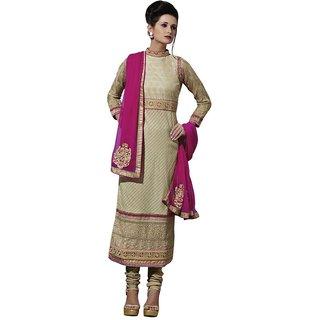 Triveni Evoking Embroidered Bordered Cotton Salwar Kameez