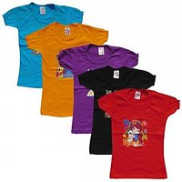 Multicolour 100% Cotton T-Shirt (Set Of 5)