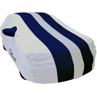 Autofurnish Stylish Blue Stripe Car Body Cover For Datsun Go -  Arc Blue