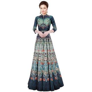Buy Designer Party Wear Gown Long Gown Printed Gown Below Knee