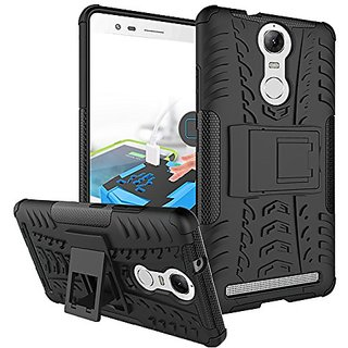 Leovo K5 Note Back Cover, Black Hybird Kick Stand Military Grade Armor Back Cover Case For Lenovo K Note Kick Stand