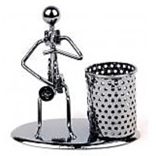 Metal Bandsman Pencil Pen Holder / Table Top Decor / Office Stationery / Mtl2