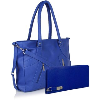 Clementine Premium PU Leather Women's Handbag With Adjustable Strap (Blue Color/sskclem223)