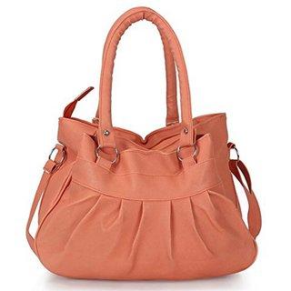 Clementine Premium PU Leather Women's Handbag With Adjustable Strap (Peach Color/ sskclem225)