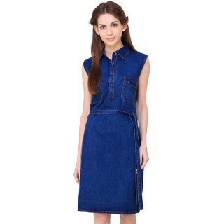 Klick2Style Women's Shirt Blue Dress