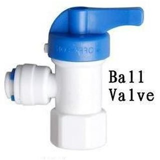 RO-1/4 Tank Ball Valve-Quick Connect Switch for RO Water Purifier-Plastic Flush Valve for RO Tank.