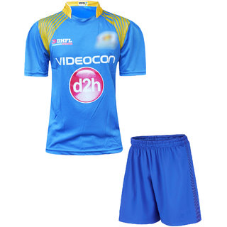Mumbai Cricket Fan Hafe Sleeve Dry Fit Jersey with Short