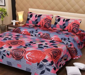 Maabhagwati Cotton Embroidered Double Bedsheet