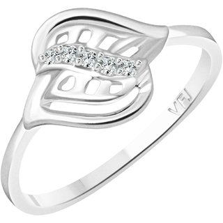 Vighnaharta  Light Beauty CZ  Rhodium Plated Alloy Finger Ring for Girls and Women