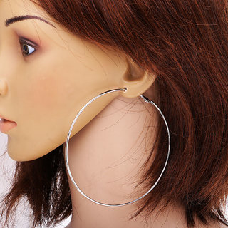 Silver Hoop Earrings Very Por