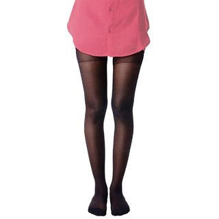 Tahiro Black Cotton Micro Fiber Stockings - Pack Of 1