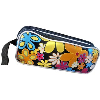 PENCIL POUCH WITH 2 COMPARTMENT