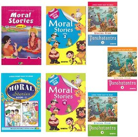 Large Print Easy To Read Book 2 (Moral  Panchtantra Stories) (Set Of 7)