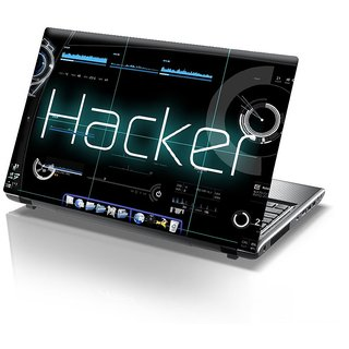 CVANU Hacker Laptop Skin Premium Quality (Sizes for 14.1 inch to 15.6 inches)