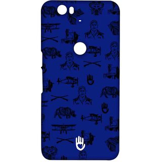 KR Collage Blue - Sublime Case For Huawei Nexus 6P