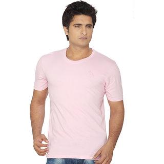 Lanosuc Mens Round Neck Light Pink Tees